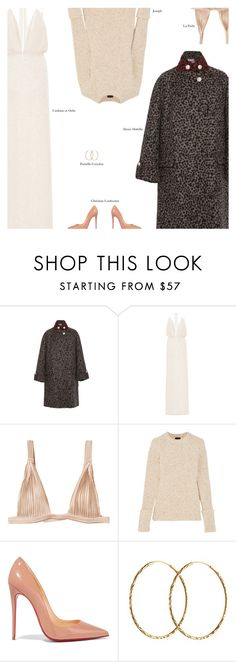 """""""Untitled #3611"""" by amberelb ❤ liked on Polyvore featuring Alexis Mabille, Cushnie Et Ochs, La Perla, Joseph, Christian Louboutin and Pernille Corydon"""