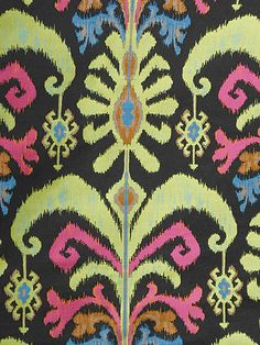 IKAT MAMBO BLACK PEARL Yard of Fabric