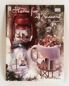 Home for all Seasons in Acrylics by Debbie Toews Tole Painting Books by PhotographyByRoger on Etsy