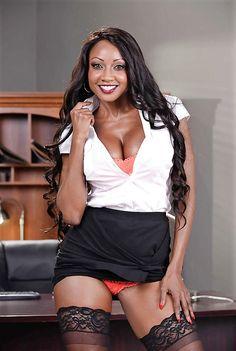 - Diamond Jackson - Oily Office - 69 of 151 Michelle Obama Fashion, Diamond Jackson, Confident Woman, Pretty Black, Leather Skirt, Black Women, Boobs, Mini Skirts, Classy