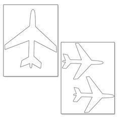 Printable Airplane Shapes from PrintableTreats.com