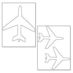 Printable Airplane Shapes from PrintableTreats.com