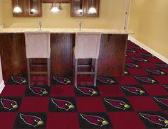 """NFL - Arizona Cardinals Carpet Tiles 18""""x18"""" tiles"""