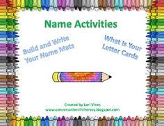 Great for the beginning of school when students are learning the letters of their name!  Use the Build and Write Your Name mats to help students to learn the letters in their name.  What's My Letter cards helps students focus on one particular letter.