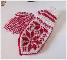 Norwegian Knitting, H Design, Mittens, Handmade, Norway, Barn, Dessert, Fashion, Fingerless Mitts