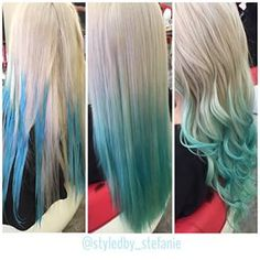 blonde and blue balayage hair - Google Search