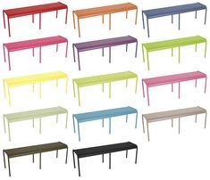 Furniture - Benches - Luxembourg Bench - 3/4 seats by Fermob - Fuchsia - Aluminium