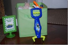 Toy Story claw game--get dollar store stuffed animals and 'claw', blindfold kids, and have them claw for a prize!