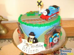 Free Cake Decorating Ideas and Tips: Cute little boy cake idea.