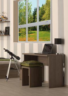 Joy szil színű íróasztal. Corner Desk, Furniture, Home Decor, Homemade Home Decor, Corner Table, Home Furnishings, Decoration Home, Arredamento, Interior Decorating