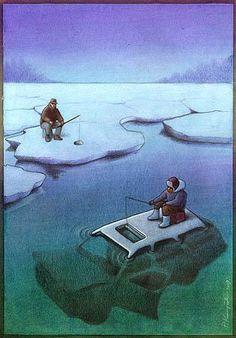 Il dénonce les réalités de notre monde à travers des illustrations satiriques poignantes  Pawel Kuczynsk