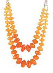 Ombre Coral Layer Necklace