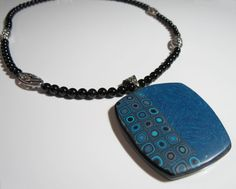 Blue Starry Night and klimt Necklace