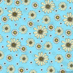 Daisy Pattern, (Surface Design, Pattern, Floral)   Copyright Janelle Dimmett 2013