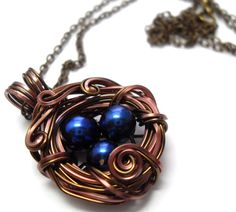 How pretty!! -- Hand made nest necklace