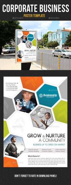Corporate Business Poster Template V01 — Photoshop PSD #solution #modern • Available here → https://graphicriver.net/item/corporate-business-poster-template-v01/13092695?ref=pxcr