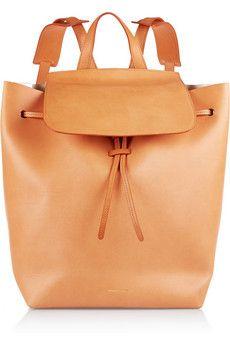 Mansur Gavriel Leather backpack | NET-A-PORTER