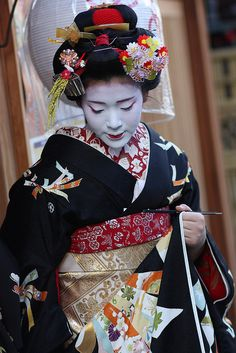 Maiko's formal ensamble during the New Year.