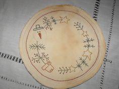 Primitive Snowman Candle Mat by primitivelymadebyme on Etsy, $10.99