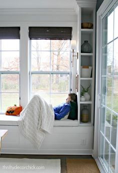 A soft place to land (on the window seat) from Thrifty Decor Chick