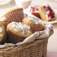 Cream Cheese Raspberry Muffins from Taste of Home -- shared by Phyllis Schmalz of Kansas City, Kansas