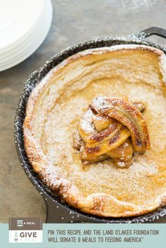 Caramelized Banana Topped Dutch Baby Recipe