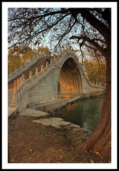 Jade Belt Bridge, also known as the Camel's Back Bridge, located on the grounds of the Summer Palace in Beijing - China