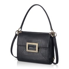 Miss Viv' Mini Shoulder Bag in Leather