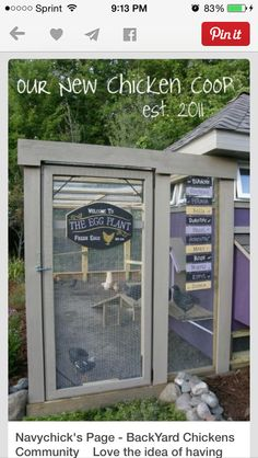 Chicken Coop - Are you looking for beautiful inspiration for your own chicken coop? Check out my top 10 Pretty and Functional Chicken Coops right now! Building a chicken coop does not have to be tricky nor does it have to set you back a ton of scratch. Chicken Coop Designs, Chicken Coop Plans, Building A Chicken Coop, Diy Chicken Coop, Farm Chicken, Chicken Ideas, Chicken Houses, Chicken Coup, Chicken Lady