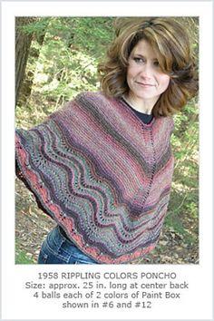 Ravelry: Rippling Colors Poncho pattern by Hélène Rush