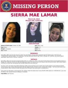 Find missing Sierra Mae Lamar!She has missing for five years.When last seen, she was walking to school. Missing Child, Missing Persons, Hockey Sweatshirts, Taking Chances, Shark Logo, Walk To School, Amber Alert, Cold Case, Word Out