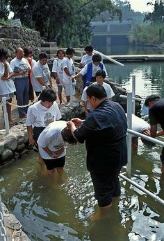 Baptism in the River Jordan