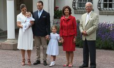 Crown Princess Victoria in her birthday celebration with her family (husband Prince Daniel, children Princess Estelle and Prince Oscar) with her parents King Carl XVI Gustaaf and Queen Sylvia
