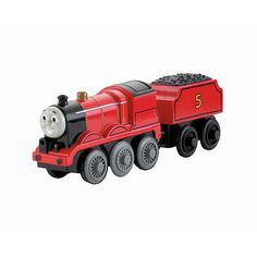 Thomas and Friends Wooden Railway Battery-Operated Engine - James