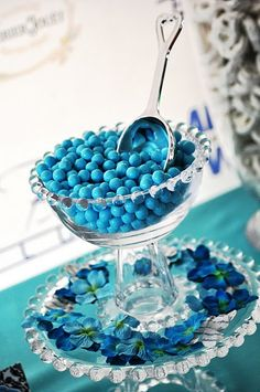Jen~ you could make these bowls for the candy bar using glass bowls and glasses from the dollar store