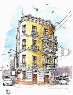 Málaga, pensión La Mundial - Luis Ruiz
