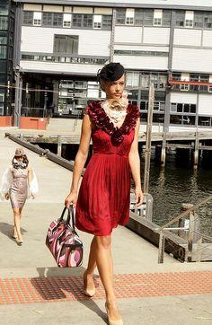 2012 Myer Autumn Winter Racing Fashion show Sydney Australia  Designer Karen Millen