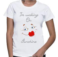 Tshirt Shirt Women Lips Fashion White Red by NAYAJewelrynFashion, $20.00