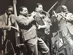 Cannonball Adderley Sextet front-line with Nat, Yusef (and Sam Jones) at Newport 1961 // photo by Jim Marshall