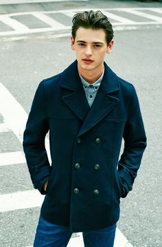Cold weather essential: The peacoat.