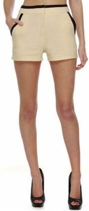 Pair these high-waisted shorts from @Lulus .com with a cropped sweater or sheer top. Cute!