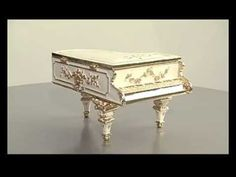 Faberge Style Big size Grand Piano with music box by Keren Kopal pop art decoration