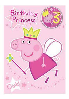 Peppa Pig 3rd Birthday Card