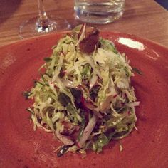 Brussels Sprouts with Pork Belly at Trellis in Lincoln Park, Chicago