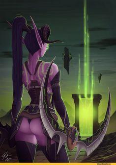 Demon Hunter,World of Warcraft,Warcraft,Blizzard,Blizzard Entertainment,фэндомы,World of Warcraft Legion,Warcraft art