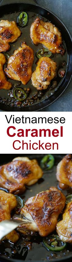 Caramel chicken – the easiest and most delicious Asian chicken dish ever with sticky, sweet and savory caramel sauce. Ready in 20 mins! Turkey Recipes, Chicken Recipes, Dinner Recipes, Easy Delicious Recipes, Yummy Food, Poulet Caprese, Caramel Chicken, Asian Chicken, Asian Cooking