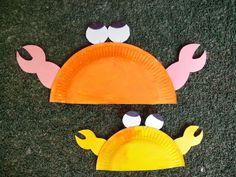 Maro's kindergarten: Paper plate crabs