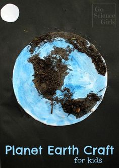 Planet Earth Craft, with real soil! Fun activity for learning about the different sides of the earth for preschool or kindergarten aged kids.