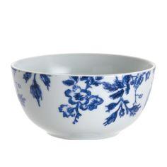 Paula Deen Signature Dinnerware Tatnall Street 4-Piece Cereal Bowl Set, Bluebell Paula Deen