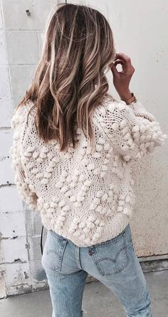 knit and denim sweater jeans